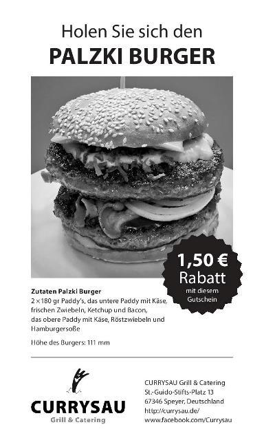 Gutschein Palzki-Burger Currysau Speyer