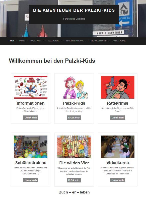 Palzki-Kids Internetseite